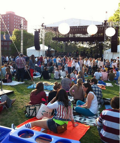 Alumni Lawn had a true festival atmosphere on Saturday for Rites of Spring 2013.