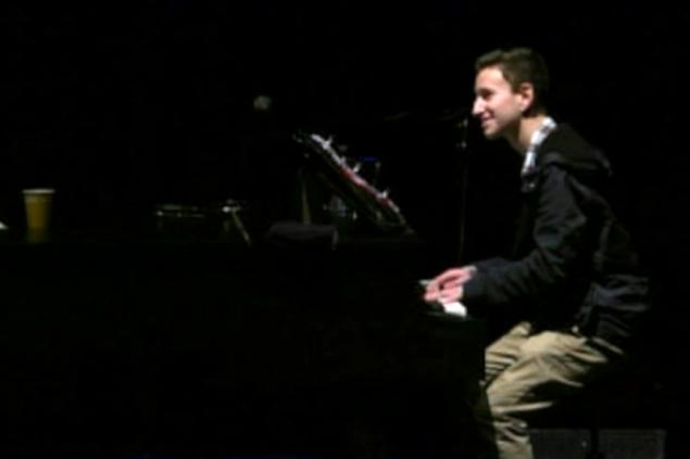 Michael Pollack was always comfortable behind a piano, but he has become more comfortable behind a microphone.